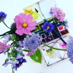 Flowers and Gardens in Watercolour Class by Julie King