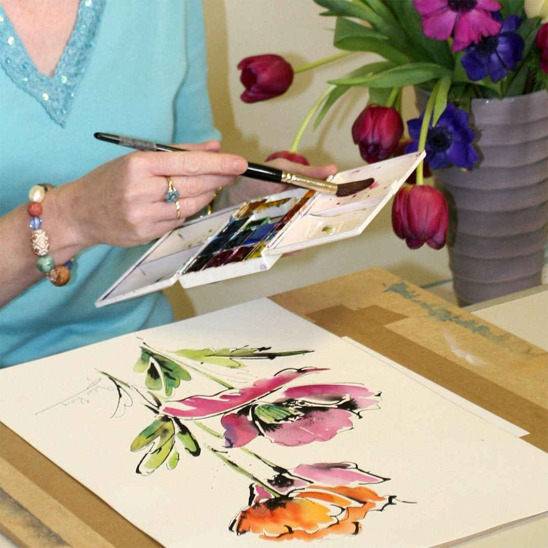 Watercolour Painting Tutorials by Julie King