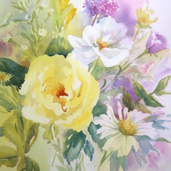 Yellow Rose, a card by Julie King