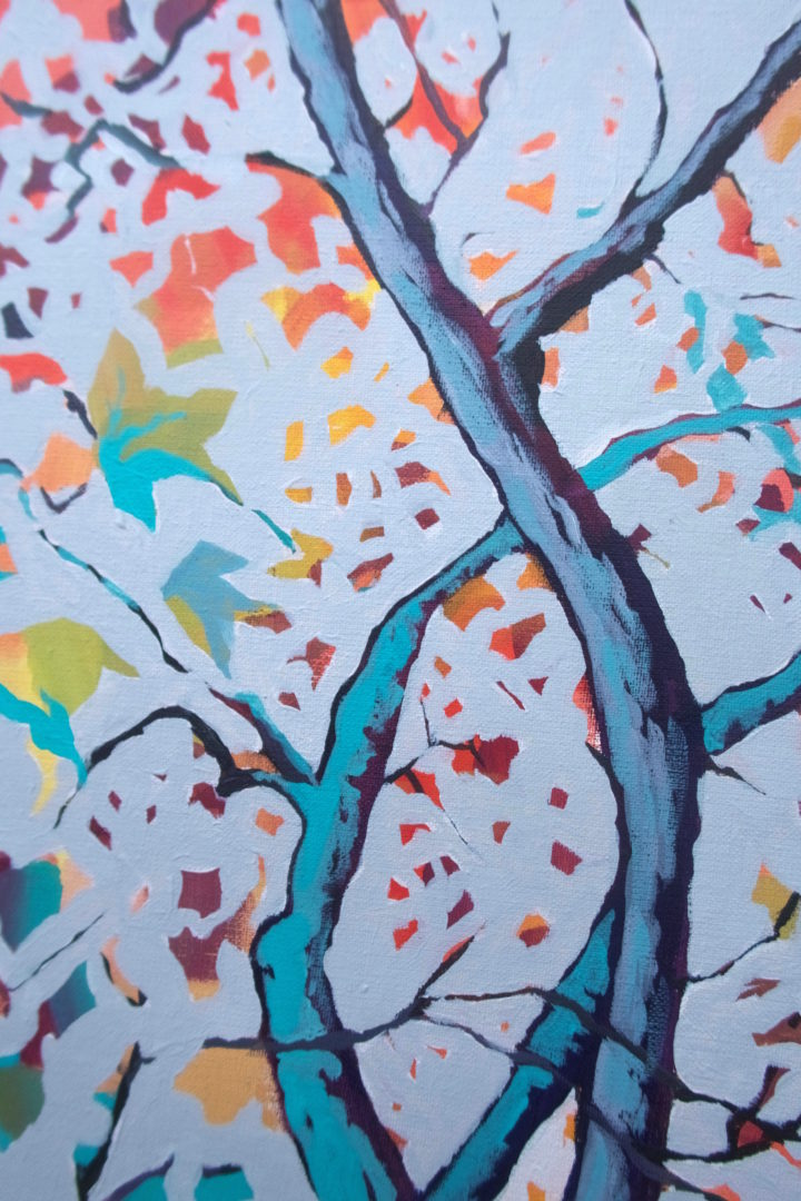 Autumn 1, an acrylic painting by Julie King