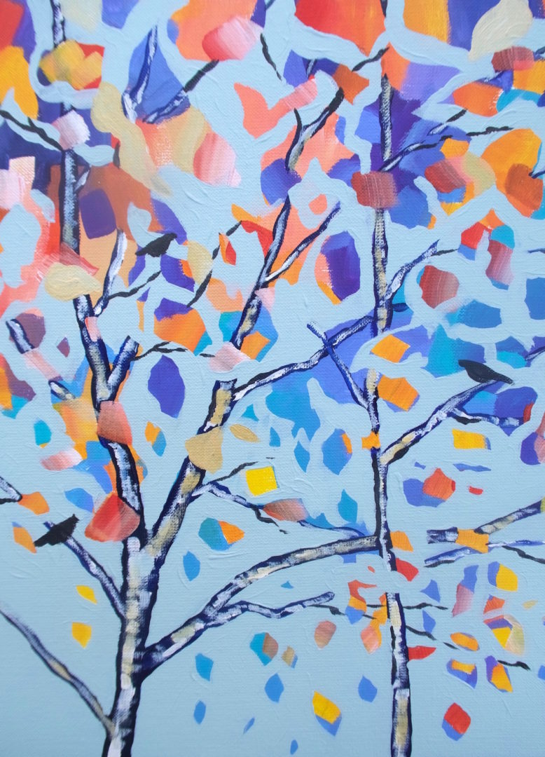 Autumn 2, an acrylic painting by Julie King