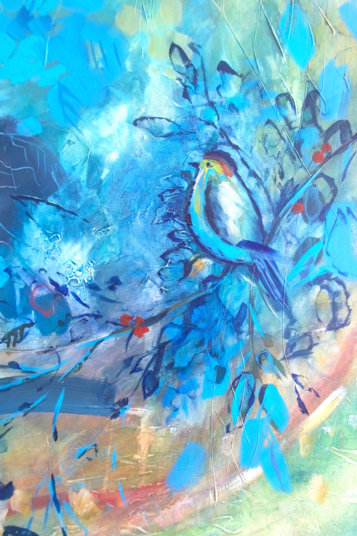 Bird Song, an acrylic painting by Julie King