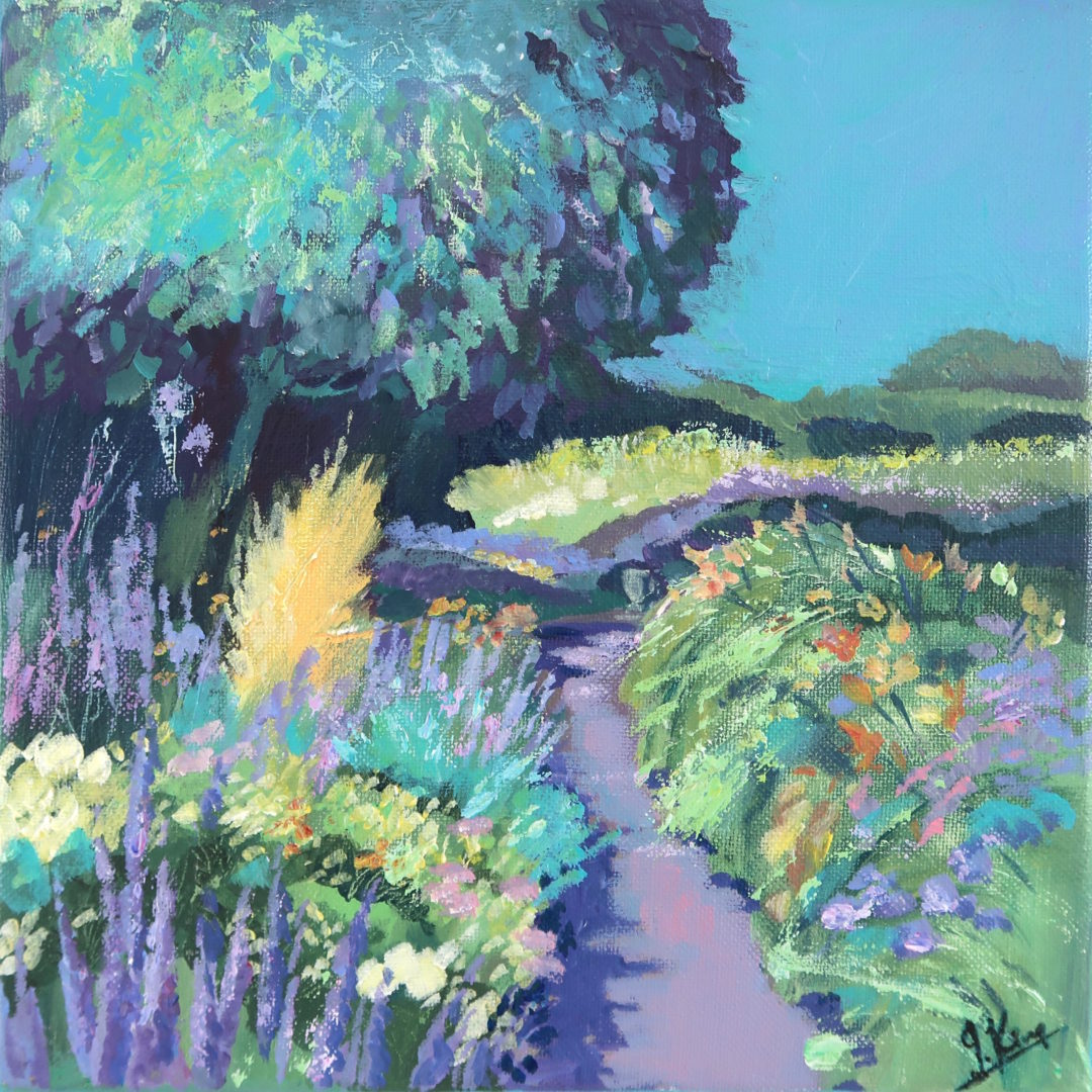 Garden Path, an acrylic painting by Julie King