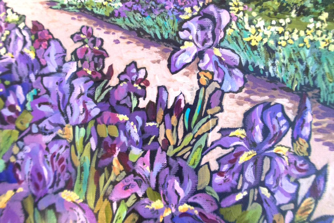 Irises, an acrylic painting by Julie King