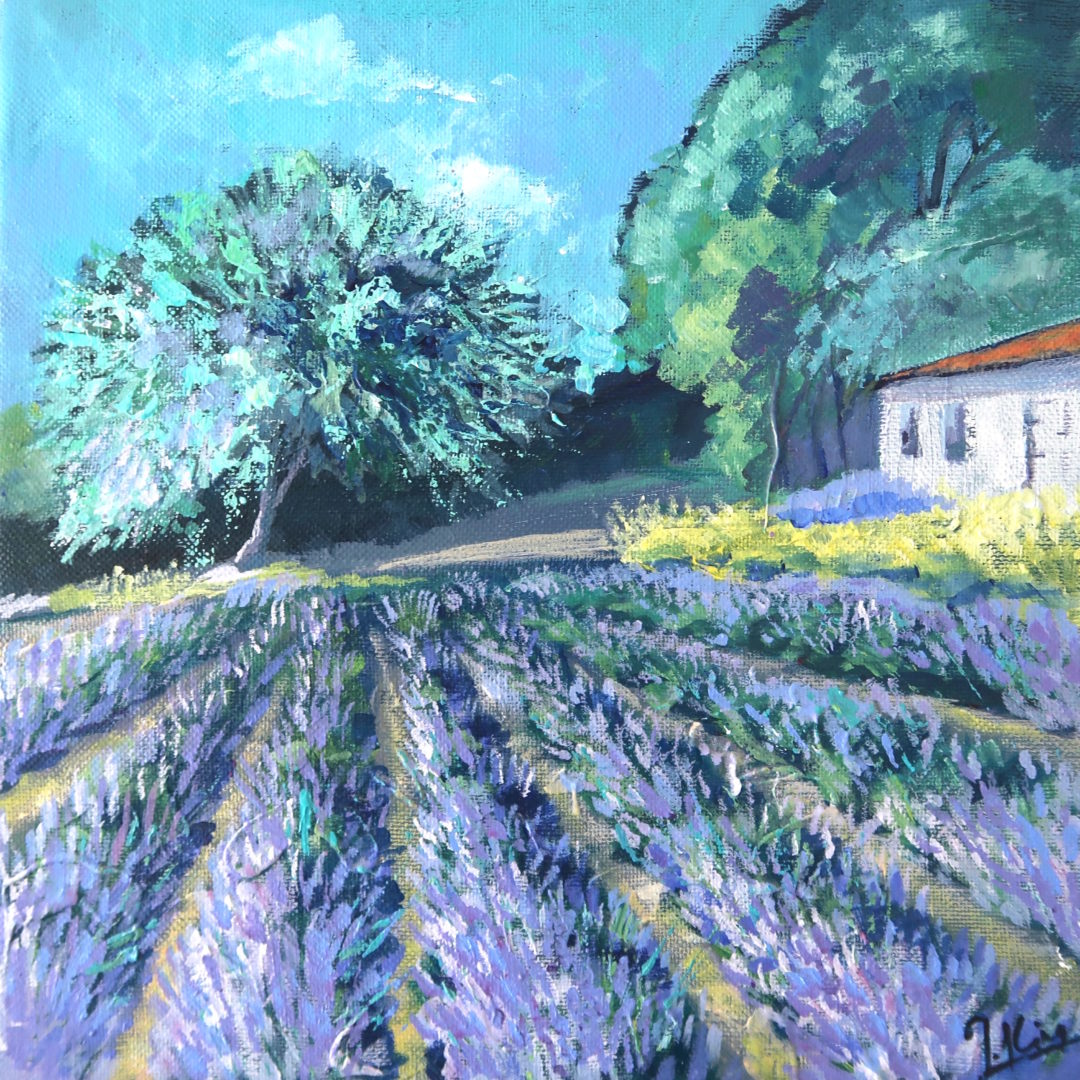 Lavender, an acrylic painting by Julie King