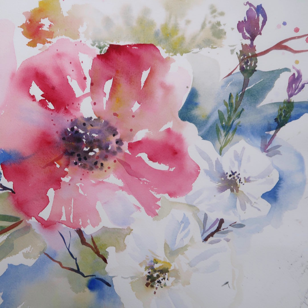 Rose, a watercolour painting by Julie King
