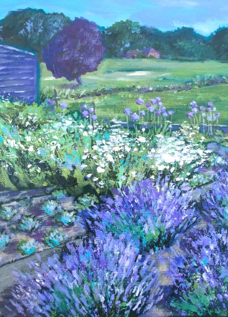 The Cutting Garden, an acrylic painting by Julie King