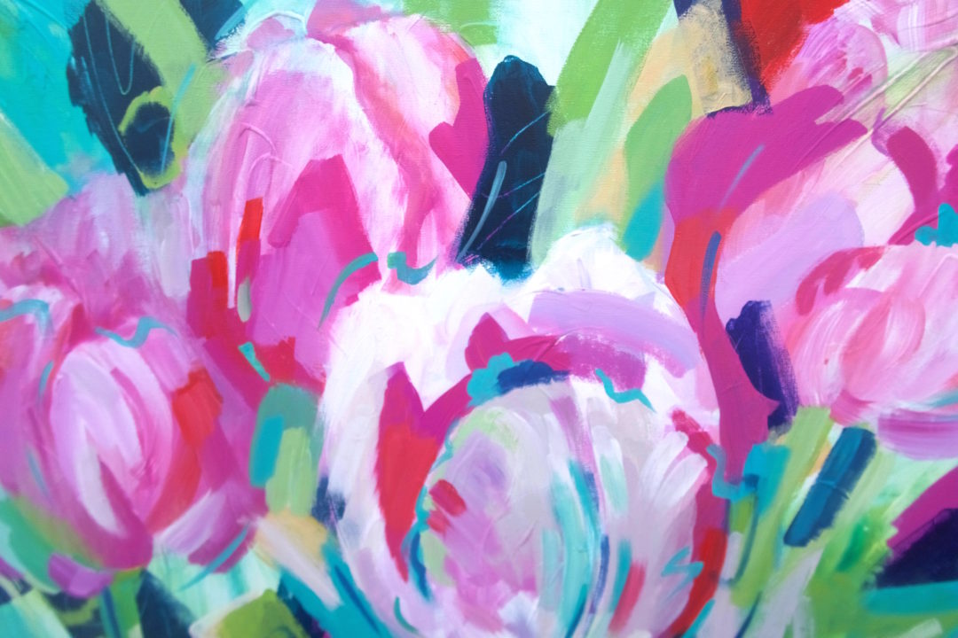 Tulips, an acrylic painting by Julie King