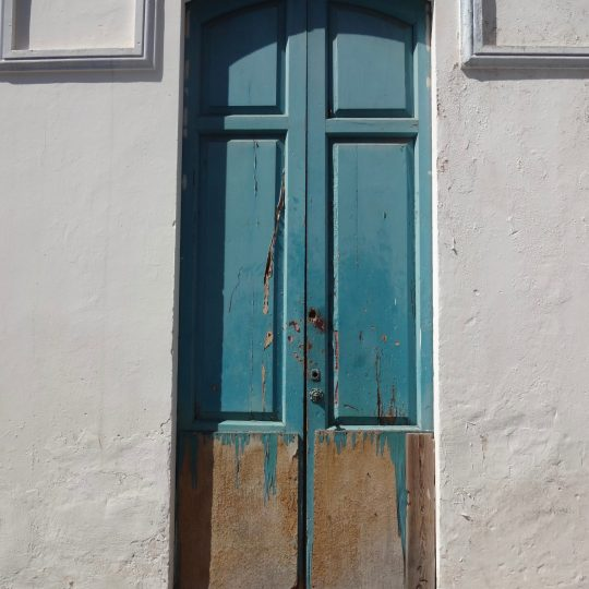 Weathered doorway in La Palma