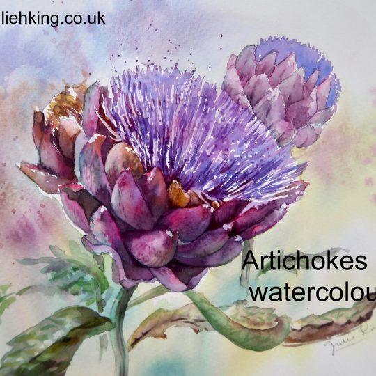 Artichokes in watercolour