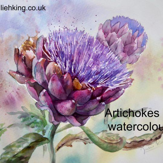 Artichokes in watercolour