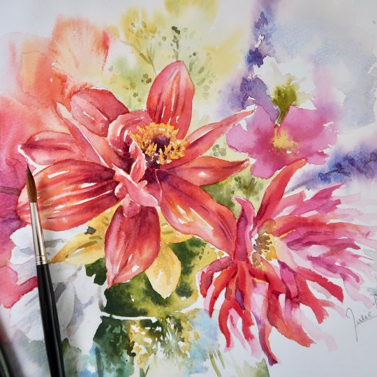 Vibrant Dahlias Part 1 and Part 2