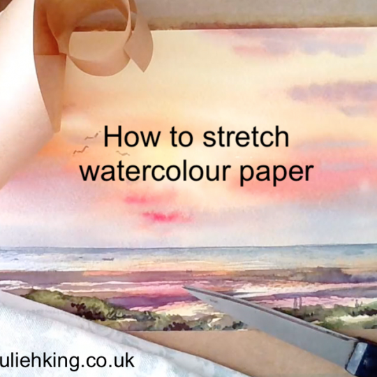 How to stretch watercolour paper