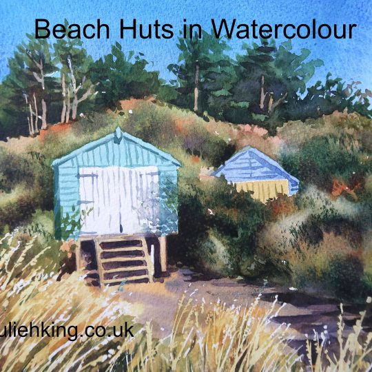 Beach Huts in Watercolour
