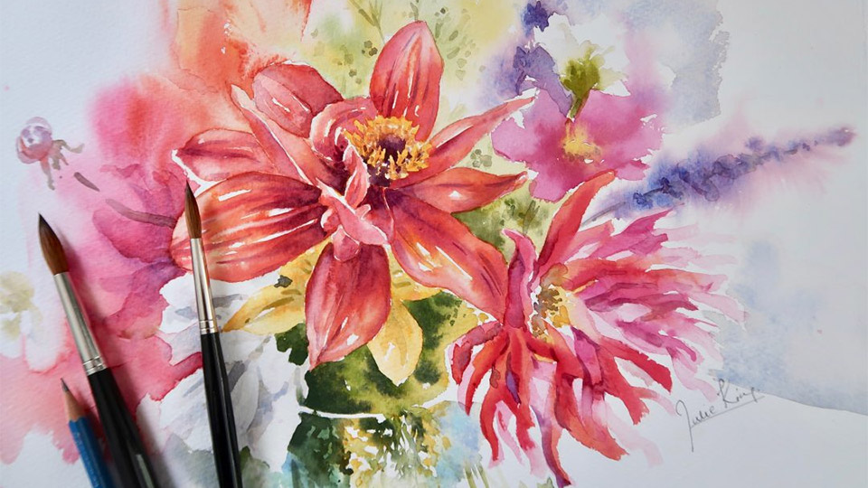 Learn to Paint in Watercolour with Julie King