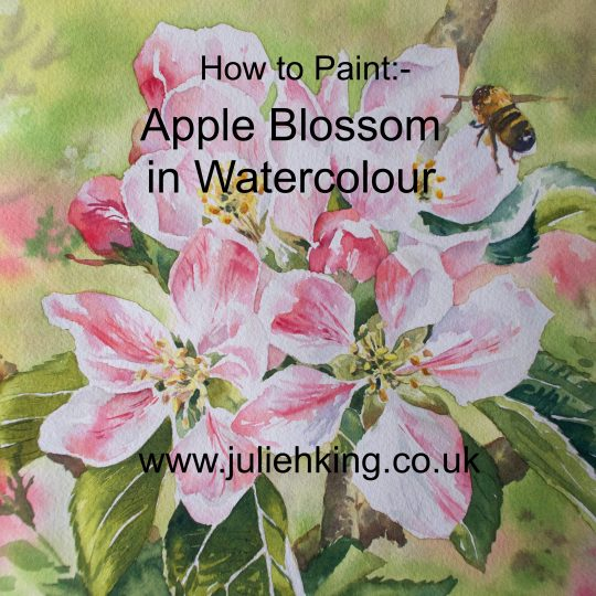 Apple Blossom in Watercolour